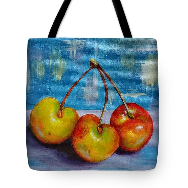 Cherries Trio Tote Bag