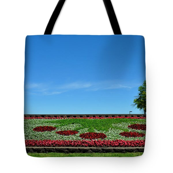 Tote Bag featuring the photograph Cherries Welcome To Traverse City Mi by Diane Lent