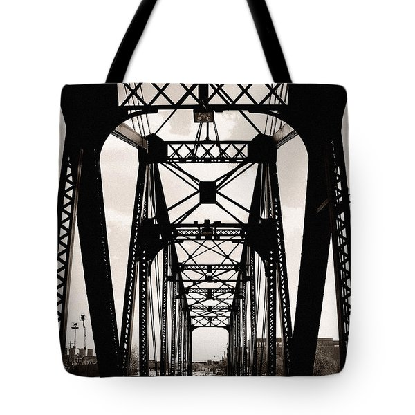 Cherry Avenue Bridge Tote Bag