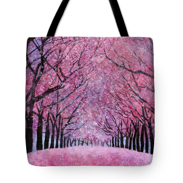 Tote Bag featuring the painting Cherry Blast by Hailey E Herrera