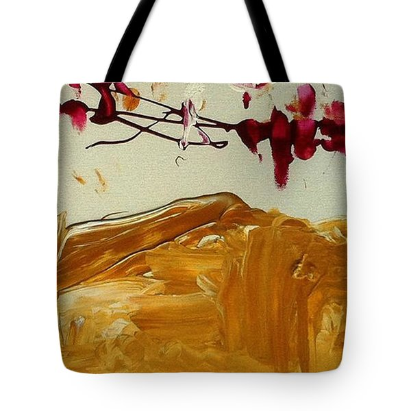 Cherry Blosoms II Tote Bag by Luz Elena Aponte