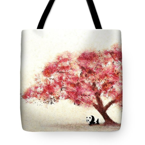Cherry Blossom And Panda Tote Bag