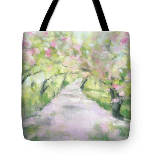 Cherry Blossom Bridle Path Central Park Tote Bag