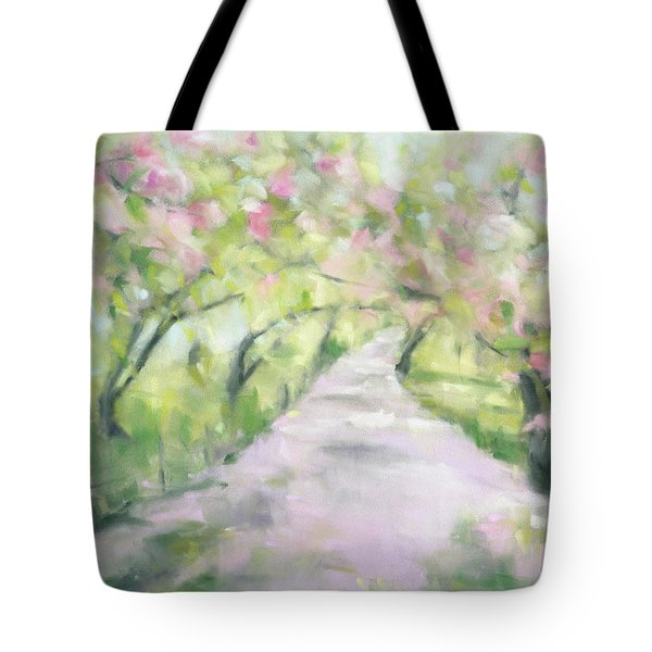 Cherry Blossom Bridle Path Central Park Tote Bag