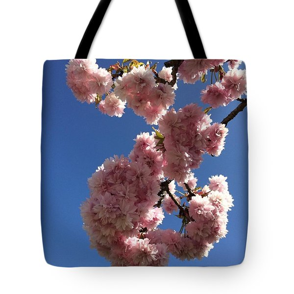 Cherry Blossom Here At Cavorting In The Tote Bag by Cavorting In The Country
