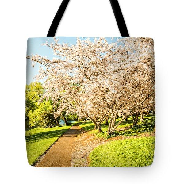 Cherry Blossom Lane Tote Bag