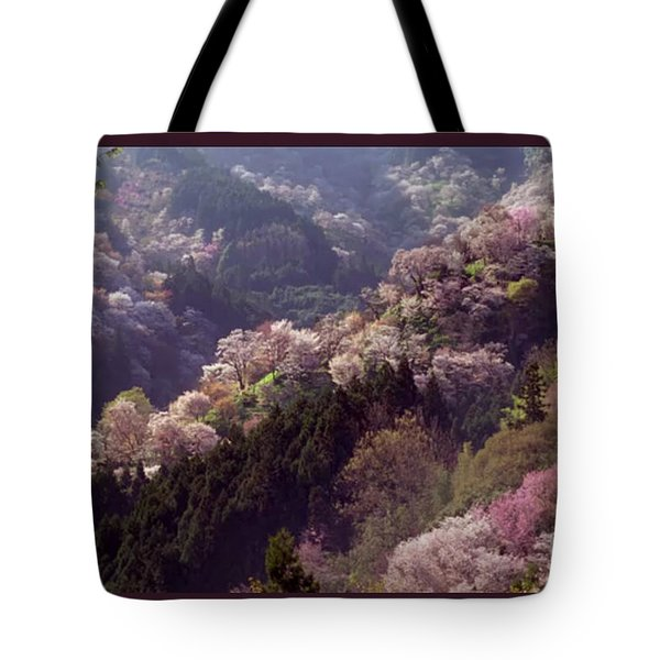 Cherry Blossom Season In Japan Tote Bag