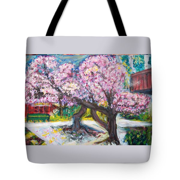 Cherry Blossom Time Tote Bag by Carolyn Donnell
