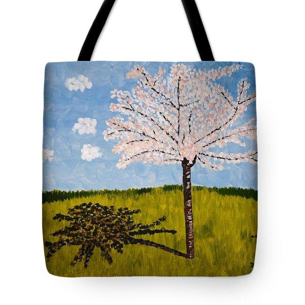 Cherry Blossom Tree Tote Bag by Valerie Ornstein