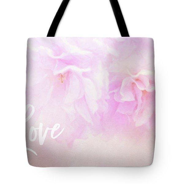 Cherry Blossom Valentine Tote Bag