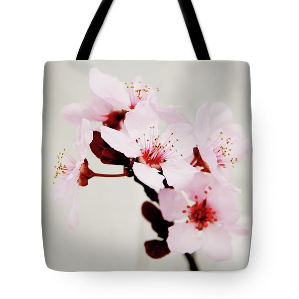 Tote Bag featuring the mixed media Cherry Blossoms 1- Art By Linda Woods by Linda Woods