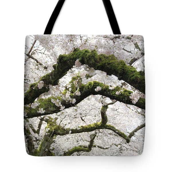 Tote Bag featuring the photograph Cherry Blossoms 104 by Peter Simmons