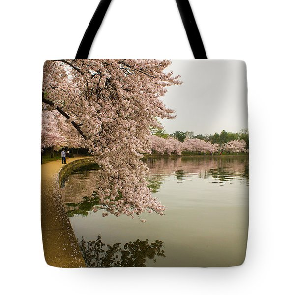 Cherry Blossoms Along The Tidal Basin 8x10 Tote Bag