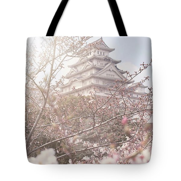 Cherry Blossoms At Himeji Castle Tote Bag