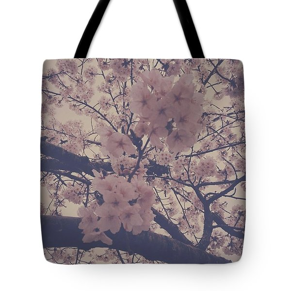 Cherry Blossoms In Seattle Tote Bag