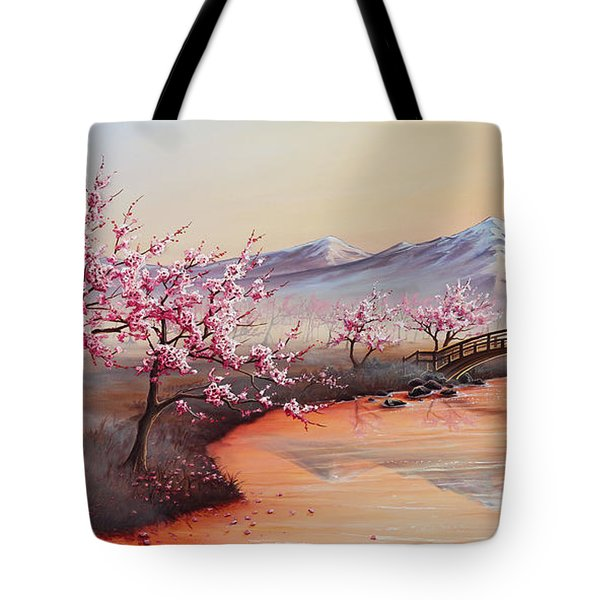 Cherry Blossoms In The Mist - Revisited Tote Bag
