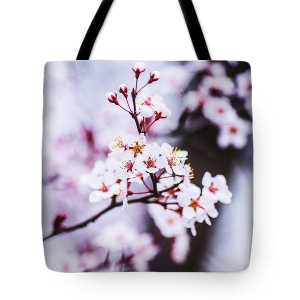 Tote Bag featuring the photograph Cherry Blossoms by Parker Cunningham