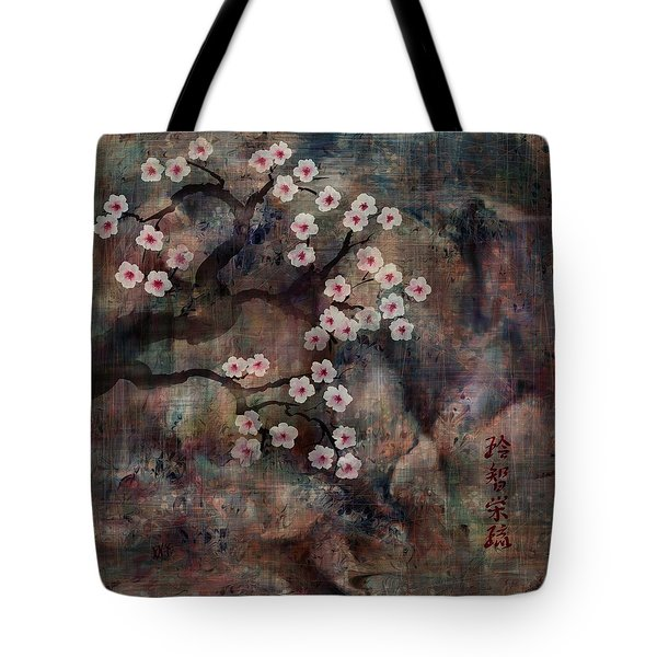 Cherry Blossoms Tote Bag by Rachel Christine Nowicki