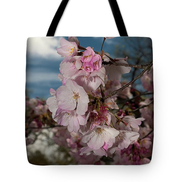 Cherry Blossoms Vertical Tote Bag