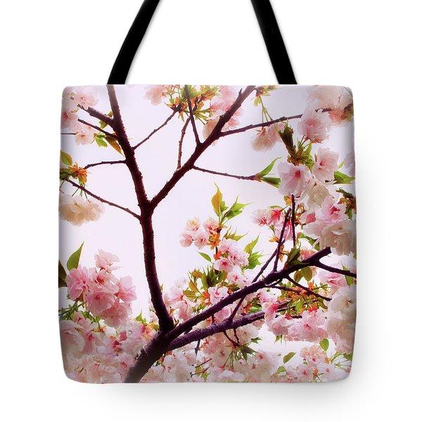 Cherry Blossom Charm Tote Bag