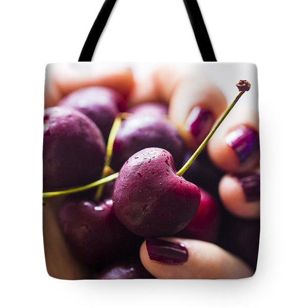 Cherry Bomb Tote Bag by Nicole English