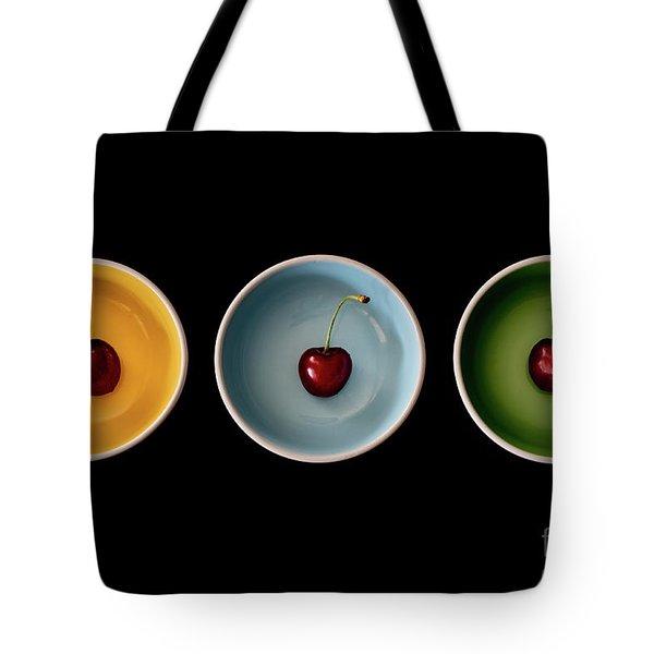Cherry Color Block Experiment Tote Bag