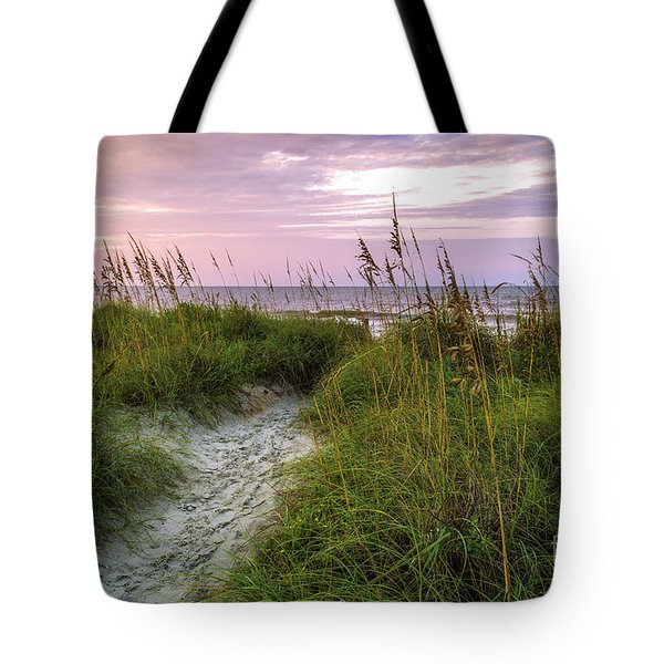 Cherry Grove Beach Scene Tote Bag