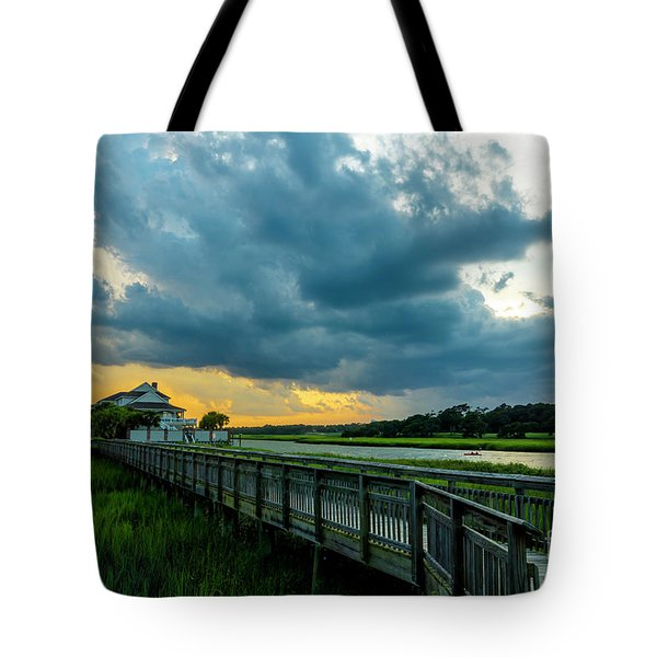 Cherry Grove Channel Marsh Tote Bag