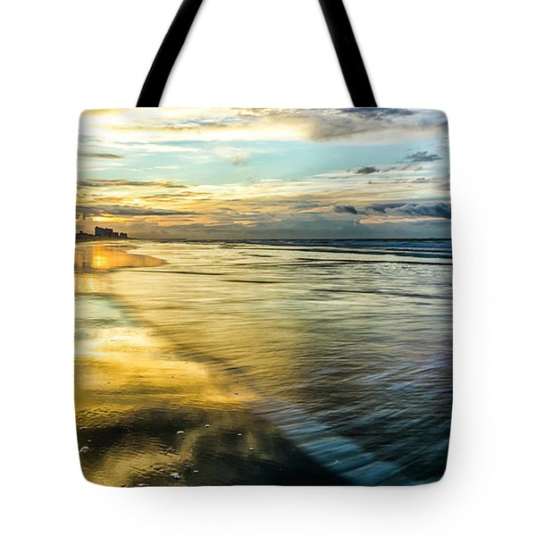 Cherry Grove Golden Shimmer Tote Bag