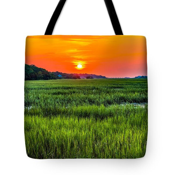Cherry Grove Marsh Sunrise Tote Bag