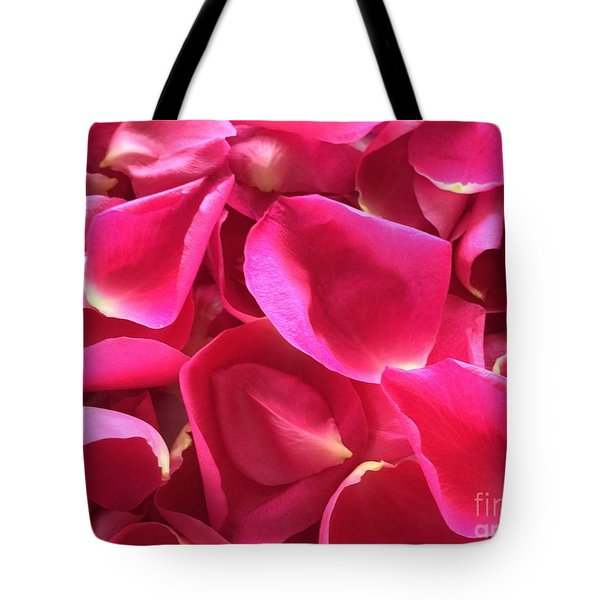 Cherry Pink Rose Petals Tote Bag