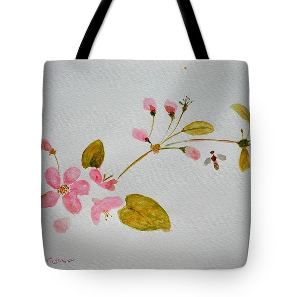 Cherry Pink Tote Bag