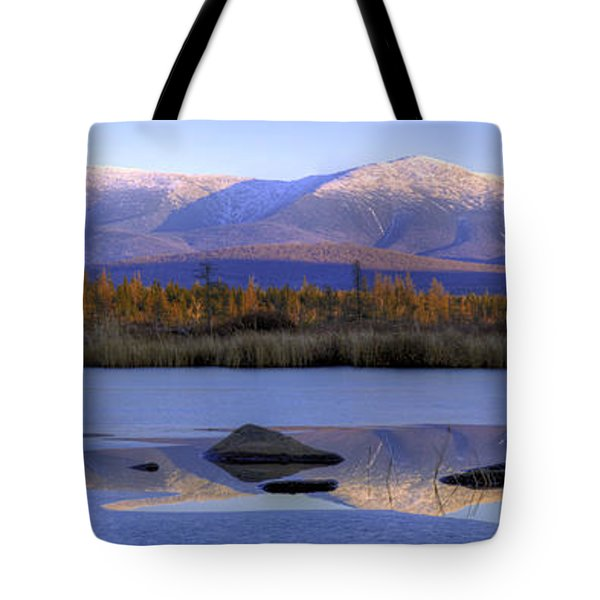 Cherry Pond Reflections Panorama Tote Bag