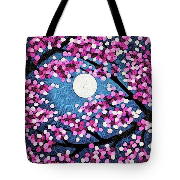 Cherry Ripple Sky Tote Bag