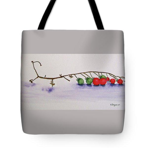 Cherry Tomatoe Vine Tote Bag
