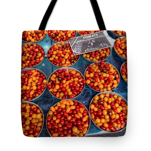 Cherry Tomatoes In Lyon Market Tote Bag