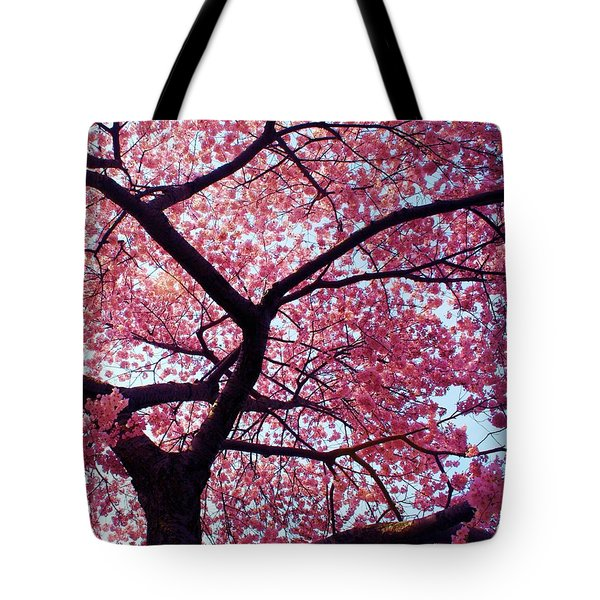 Cherry Tree Tote Bag by Mitch Cat