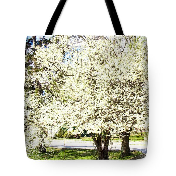 Cherry Trees In Blossom Tote Bag