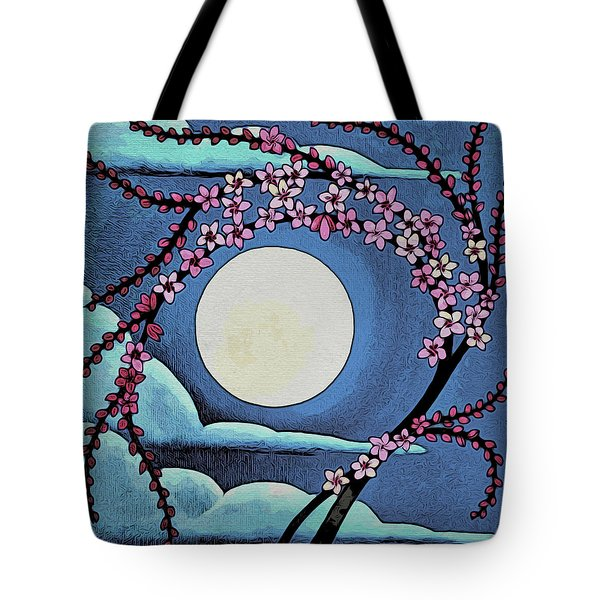 Cherry Whip Moon Tote Bag