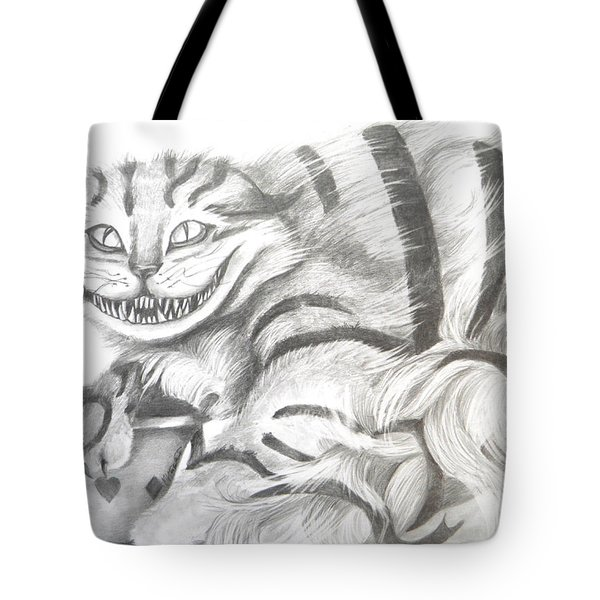 Chershire Cat  Tote Bag by Meagan  Visser