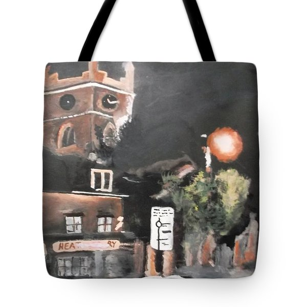 Chertsey At Night 2 Tote Bag by Carole Robins