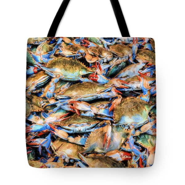 Tote Bag featuring the photograph Chesapeake Bay Blue Crabs by JC Findley