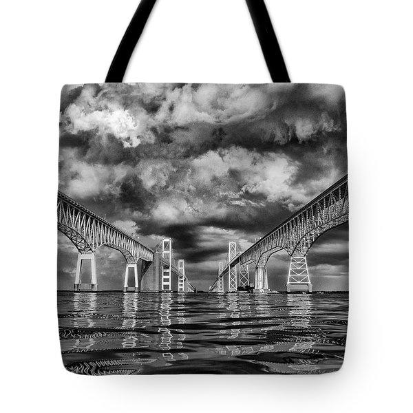 Chesapeake Bay Bw Tote Bag