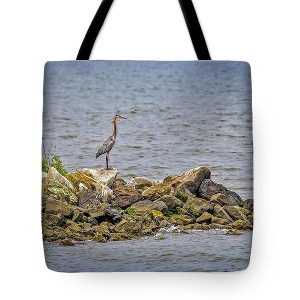 Chesapeake Bay Great Blue Heron Tote Bag