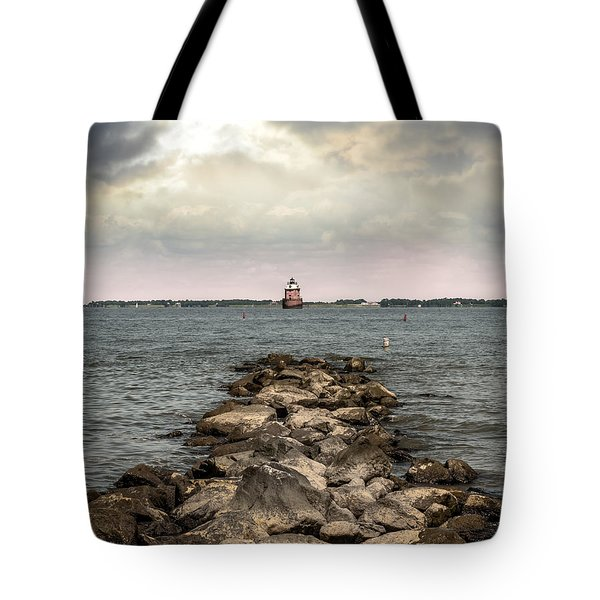 Chesapeake Bay Lighthouse Tote Bag