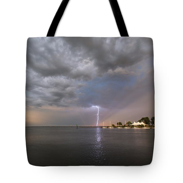 Tote Bag featuring the photograph Chesapeake Bay Rainbow Lighting by Jennifer Casey