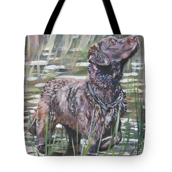 Chesapeake Bay Retriever Bird Dog Tote Bag by Lee Ann Shepard