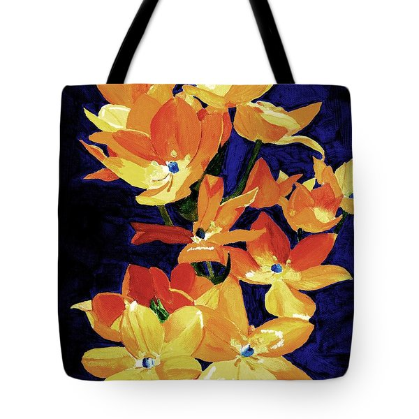 Tote Bag featuring the painting Chesapeake Sunset by Rodney Campbell