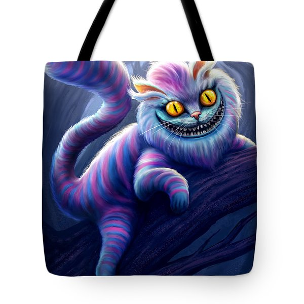 Cheshire Cat Tote Bag by Anthony Christou