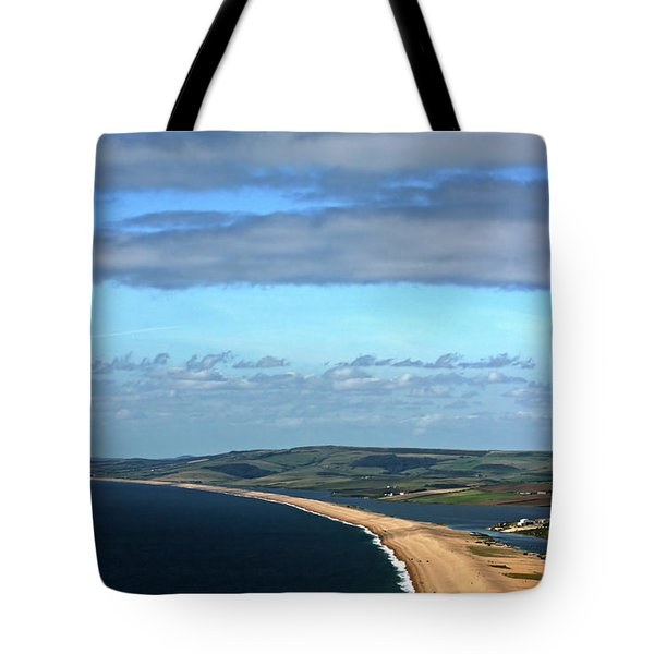 Tote Bag featuring the photograph Chesil Beach by Baggieoldboy
